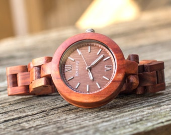 Ladies' Analog Rose wooden watch, girlfriend gifts, accessories for women,wooden watches,handcrafted,ladies watch, mothers day gifts