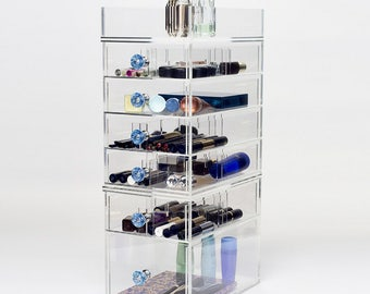 7 Tier Makeup Organizer | Heart 7S - Clear Acrylic Makeup Storage