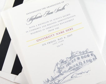University of South Carolina Graduation Announcements, Grad Party Invitation, Grads, College (set of 25 cards and envelopes)