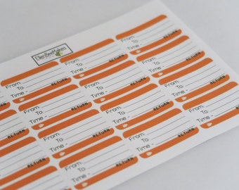 Train Ticket Planner Stickers