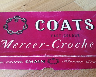Vintage J&P Coats Chain Mercer-Crochet Thread In Original Box With Three Vintage Crochet Hooks-Shrimptons Star 4 1/2, Star 4, Milward 4 1/2
