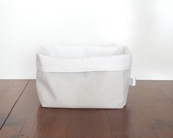 Grey Fabric Storage Basket, Pastel Grey Basket, Fabric Storage Basket, Storage Bin, Change Table Storage, Nursery Storage, Fabric Bin