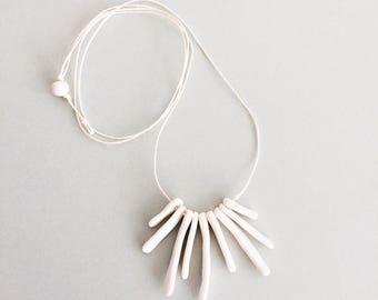 BONES: handmade porcelain necklace
