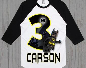Batman Lego Birthday Shirt - Batman Shirt - Tank Top Available