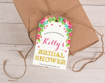 Bridal Shower Favor Tags, Bridal Shower Tags, Thank You Tags, Personalized Tags, Wedding Favor Tags, Favor Tag, Gift Tags, Printable Tags