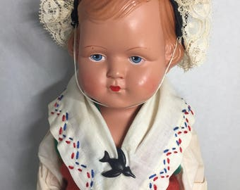 Vintage Doll European Clothing Celluloid Plastic  Markings