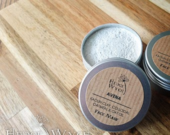 Kaolin Face Mask (Oat Face Mask, Sensitive Skin Mask, Face Mask Powder)