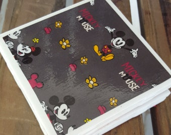 Mickey and Minnie Mouse Themed Coaster Set, Disney Coasters