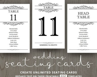 Printable menu cards do it yourself diy card template seating cards for wedding table number printable templates diy wedding reception decorations calligraphic solutioingenieria Gallery