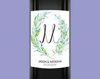 Wedding Wine Labels, Custom Wine Labels, Personalized Wine Bottle Labels, Wedding Label Stickers #3