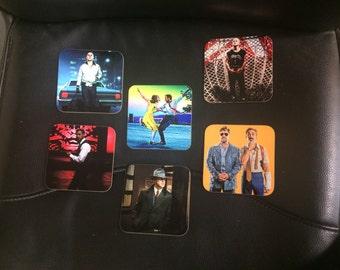 Ryan Gosling Coasters - Singles or Sets - La La Land - Drive - The Nice Guys - Only God Forgives - Gangster Squad etc.