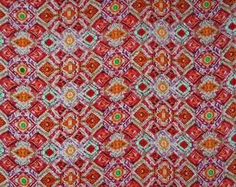 "Apparel Fabric, Multicolor Geometric Print, Dressmaking Fabric, Designer Fabric, 43"" Inch Rayon Fabric By The Yard ZBR543C"