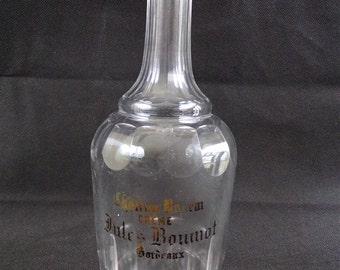Rare vintage Chateau D'yquem, Bordeaux France collection Crystal bottle decanter great French decanter vignoles advertising vintage france