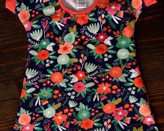 Infant/Toddler Knit Summer Dress/A-Line/Floral