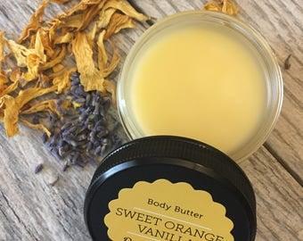 Sweet Orange Vanilla Body Butter ~ Baby Lotion ~ Organic Baby Butter ~ Organic Baby Lotion ~ Natural Baby ~ Baby Safe ~ Gentle Formula