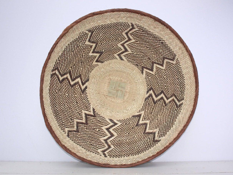 Handmade Baskets From Africa : Large cm handmade binga basket african