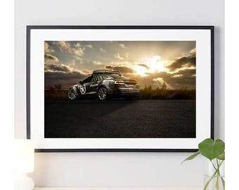 Tesla Model P85D Rear Angle View #1 | automotive photography | automotive prints | car photography | car prints | American Car | 11 sizes