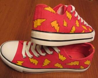 Lightning bolt shoes red