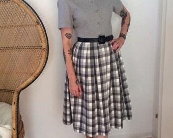"50s flannel Dress ""Montmartre"""