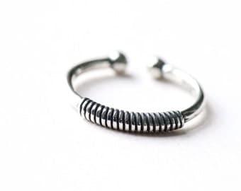 925 Sterling Silver Ring, Boho Ring, Oxidized Ring, Minimal Ring, Art Deco Ring