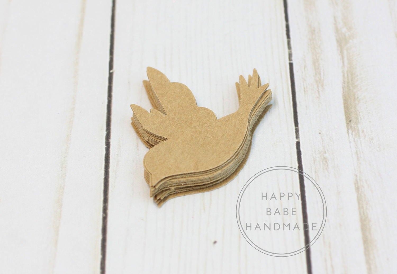kraft paper bird 25 paper birds paper dove 2