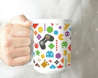 Gamer Coffee Mug - Funny Gamer Mug - Gamer Mug - Mug for Gamers - Classic Gamer Mug - Nerdy Mug - Geeky Coffee Mug - Funny Nerdy Mug