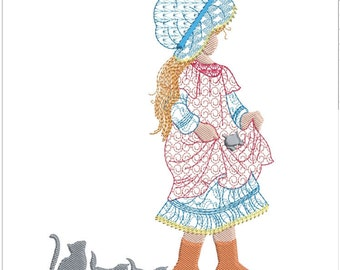 HOLLY HOBBIE machine embroidery download 3 diff sizes ( 5x5 6x6  7x7 )