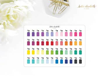 Makeup Brushes || Planner Stickers