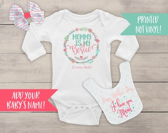 First Mothers Day Outfit - Mothers Day Gift - 1st Mothers Day Shirt - Mothers Day Outfit - Mothers Day Baby Girl Outfit - Baby Girl Bodysuit