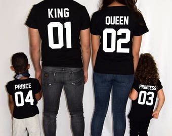 What is your number? Shirts for couples Family T-shirts King Queen Prince Princess Tshirt Matching shirts Matching set Family set
