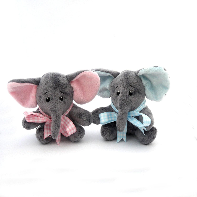 Elephant Stuffed Toy : Elephant plush toy handmade stuffed