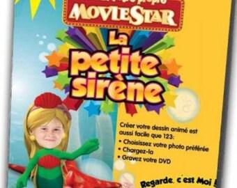 CD custom cartoon the Little Mermaid - idea gift girl - 1-9 years - Andersen - interactive - birthday girl - movie star