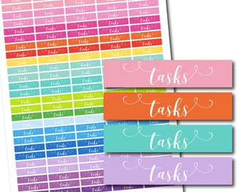 Tasks planner stickers, Hand drawn stickers, Tasks word stickers, Text stickers, Planning stickers, Planner accessories, STI-1060