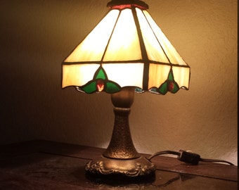 Table Lamp, Hand made Stained Glass top