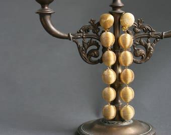 Bon bon earrings Gold earrings Les bonbons earrings Drop earrings gold Bonbon wedding earrings Lightweight clip on earrings Statement