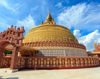 Myanmar Photography, Buddhist Academy Building, Seda, Buddhism, Travel Photography, Fine Art Photography, Print Photography, Wall Art Print