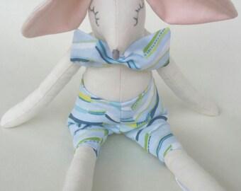 baby boy rabbit, boy bunny doll, bunny doll, cuddly toy,