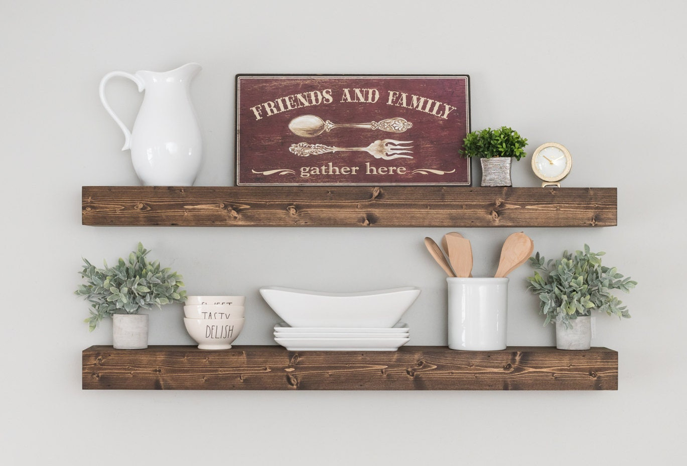 Rustic Kitchen Shelving Rustic Kitchen Decor Etsy