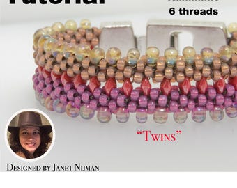 Kumihimo pattern tutorial 6 threads  'Twins'  bracelet Kumihimo Style