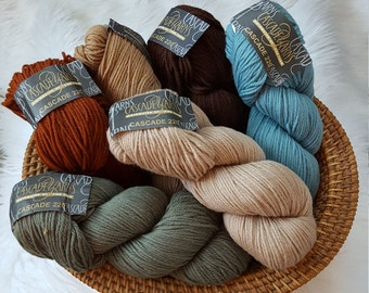 Cascade 220 Yarn - 100% Peruvian Highland wool - Multiple Colors