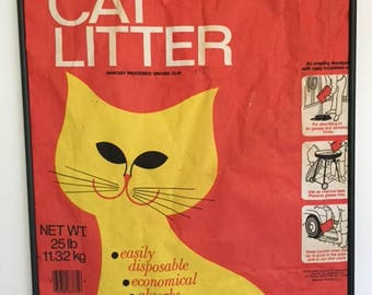 1960s Hartz Kitty Litter Bag