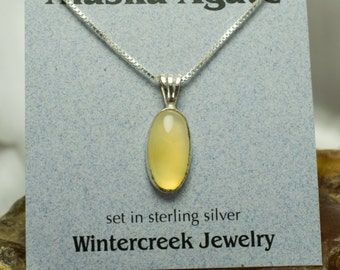 Handmade Alaska Agate Oval Necklace