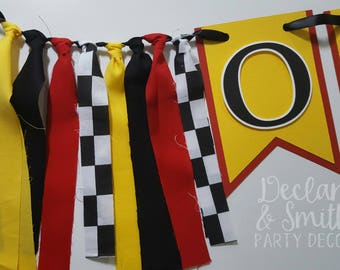 Ferrari birthday party decorations * Ferrari first birthday * Ferrari high chair banner * race car party * race car birthday * Ferrari