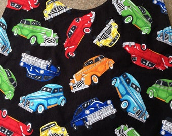 Adult Bib, Old Cars, Clothes Protector, Shirt Saver, Dignity Wear, Elderly, Special Needs, Messy Eater Bib, Men or Teen