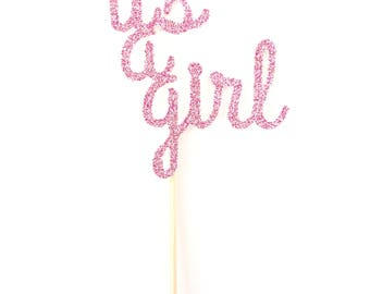 It's a Girl Cupcake Toppers - Set of 12 - Baby Shower Decor