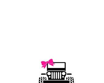 Girly Jeep Bow Etsy - Jeep vinyls for yeti cups