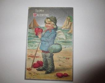 To My Valentine 1910 Postcard