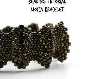Peyote bracelet pattern, Flat cellini spiral, Seed bead tutorial, Beading tutorials and patterns, Beadweaving waves armband, Peyote stitch
