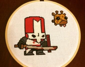 Castle Crashers Red Knight Cross Stitch Pattern PDF