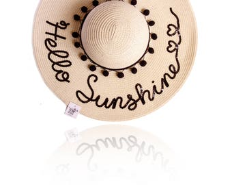 BEIGE COLOR Hat, Customized,  Personalized Summer Hat, any words